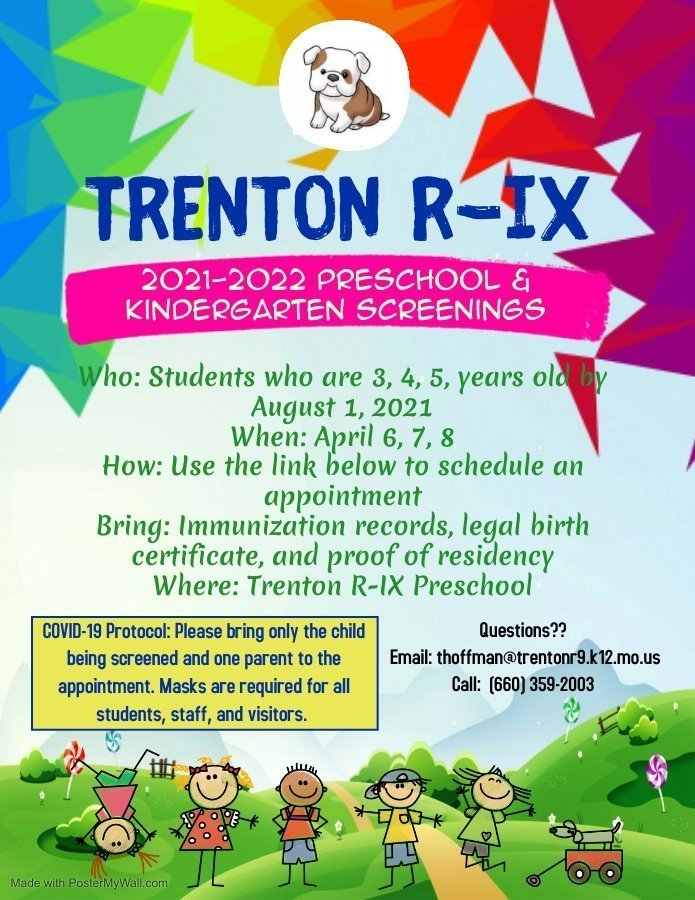 PRESCHOOL & KINDERGARTEN SCREENING