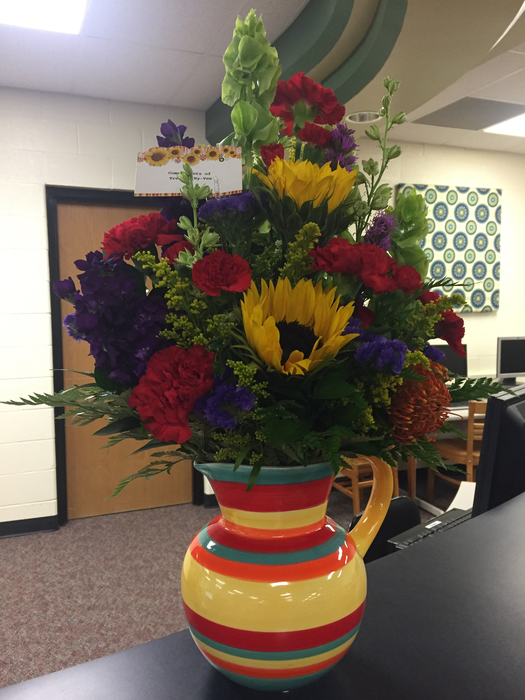 Flowers donated by Trenton Hy-Vee.