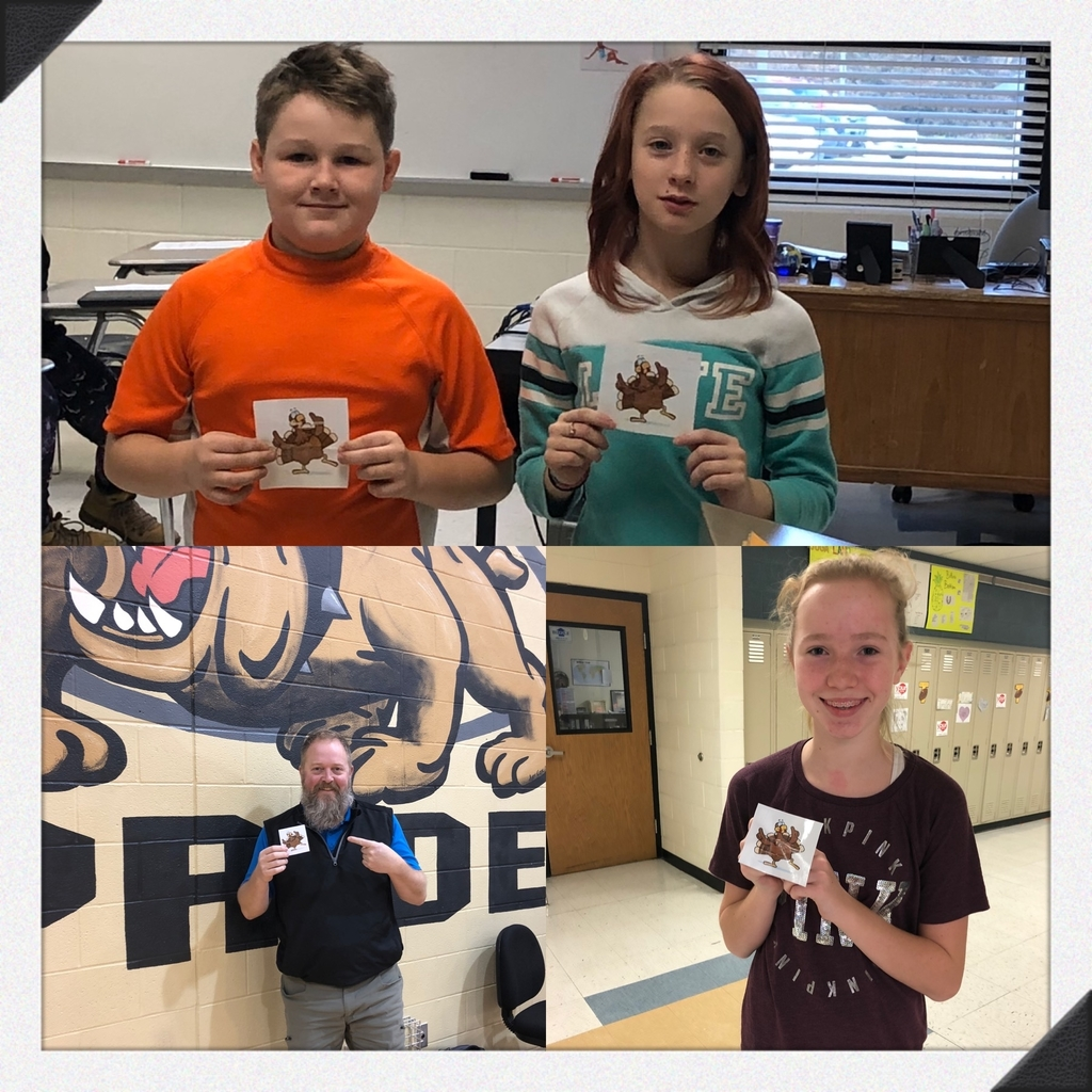 Dancing turkeys are hiding around TMS this week. These lucky winners found a turkey and will get free ice cream at lunch!