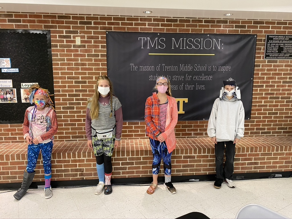 Winners of Wacky Wardrobe Day at TMS